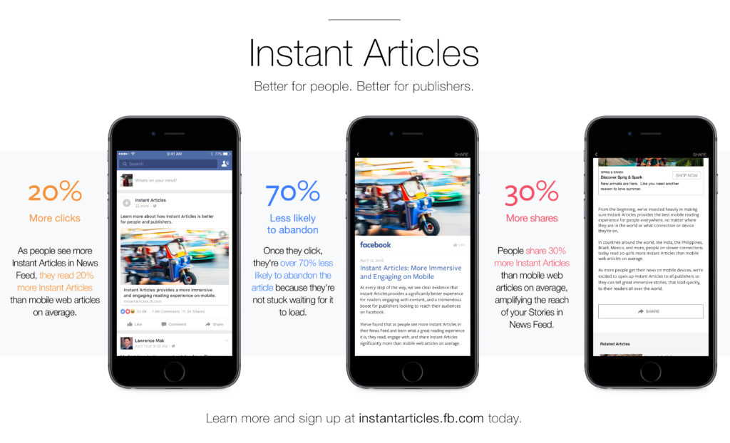 instant articles for publishers